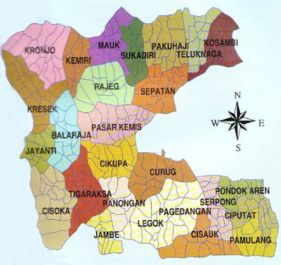Peta Jalan Kota Tangerang Lengkap