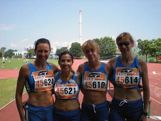 4x100 W45: Ramani, Piga, Forcellini e Giusti