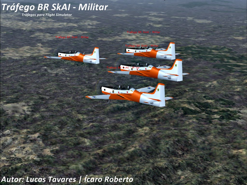 Trafego BR Skai Militar para o flight simulator 2004, fabricado pelo Lucas