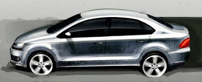 Photo: VW Polo Sedan Sketch