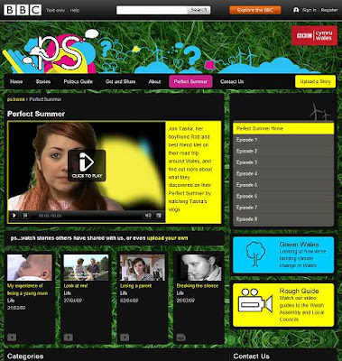 BBC Wales web series Perfect Summer Perfectsummer web series UK Welsh