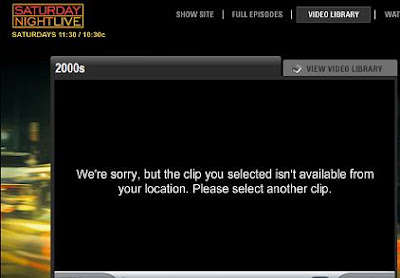 Aaagh! Whats with this! I have MONEY to spend on your brand, NBC, but I cant and wont spend it if I cant see it for myself