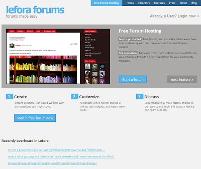 web producer tips British free forum hosting forums hosts