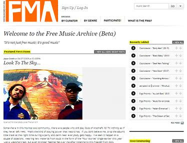 free music archive free music online music for web producers licencing licensing