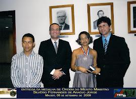 Entrega da Medalha de Ordem do Mérito