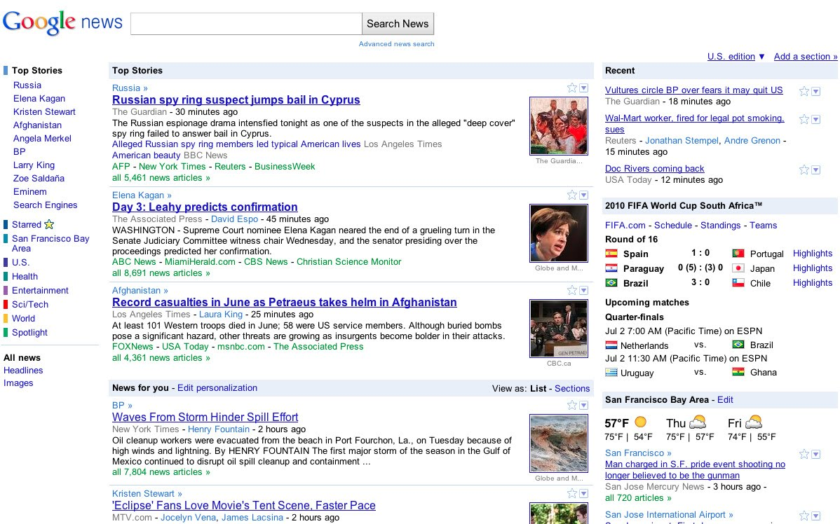 Google News after