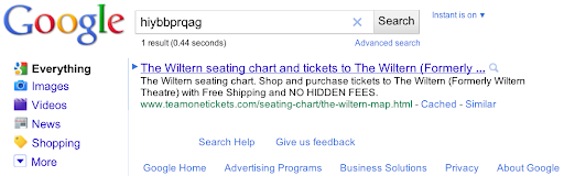 Bing stealing results from goOgle