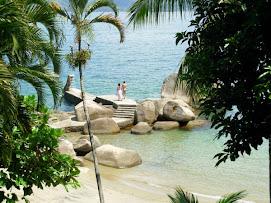Praia e deck