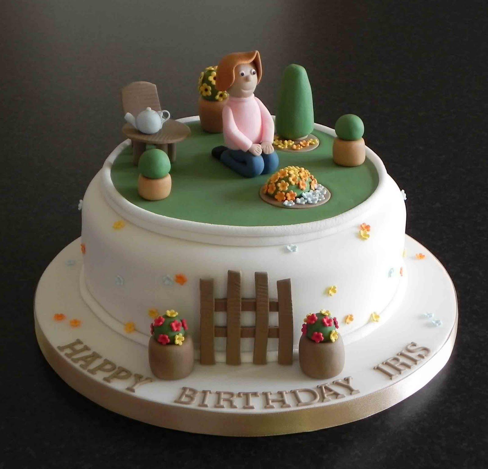 Free Cake Info: Gardening cakes