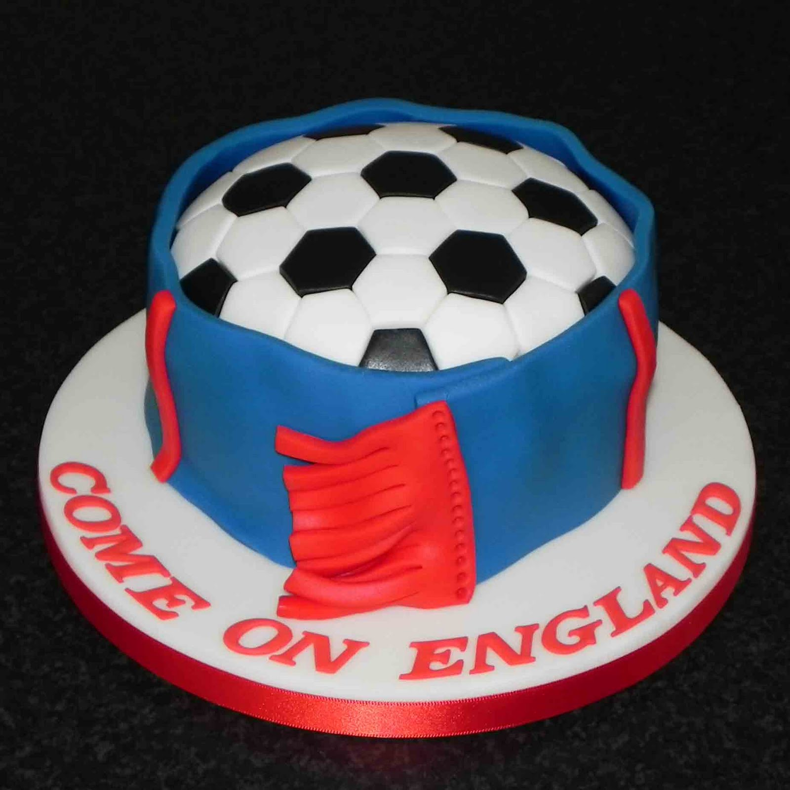 Cake by Lisa Price: Come on England - football cake