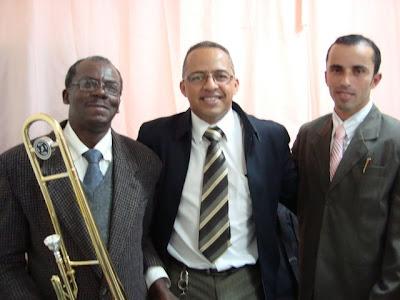 Irmão José , pastor Daniel Marcos e pastor Paulo