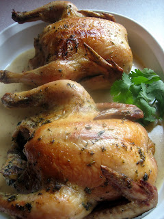 Fresh Herb Roasted Cornish Hens