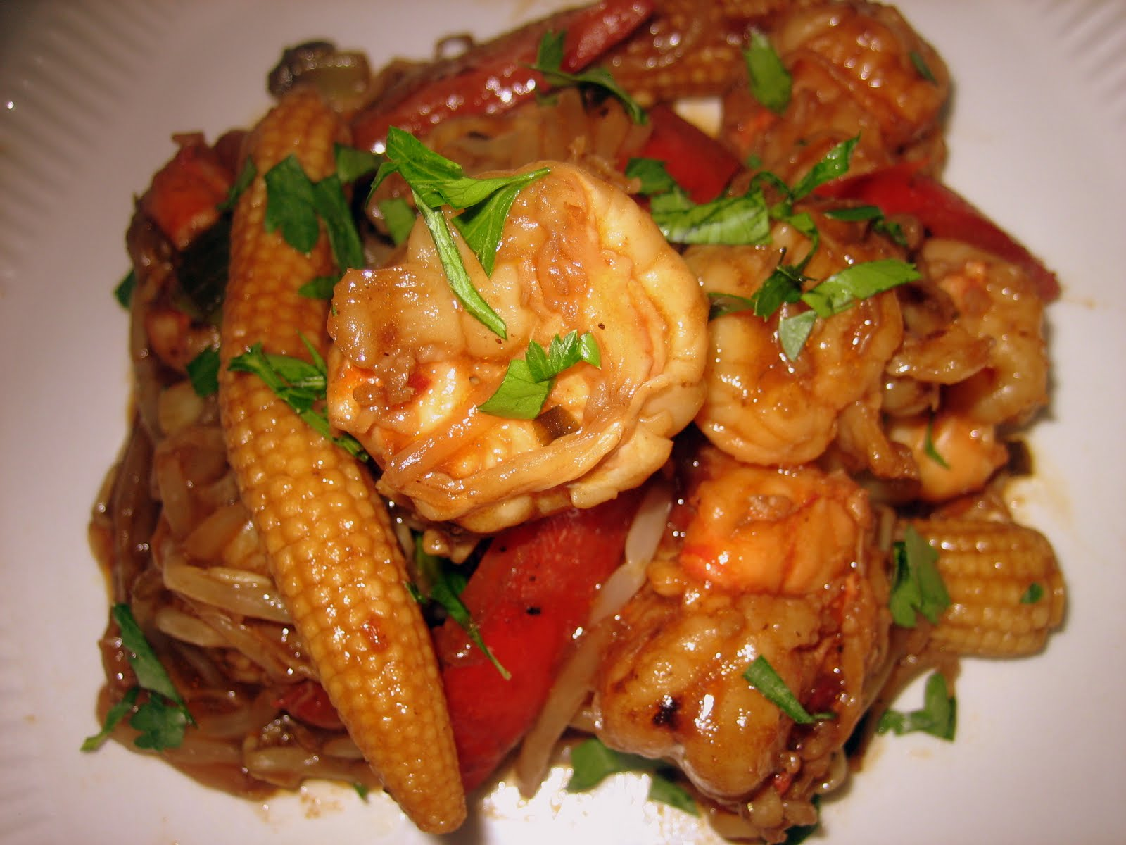 Stir-Fry Spicy Shrimp with Vegetables in Black Bean Garlic Sauce