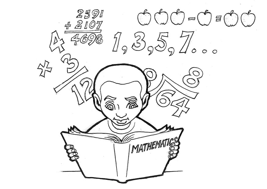 dibujos matematicos para colorear
