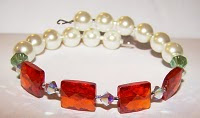 A Bead A Day: What Colors = Holiday Festivities? :  pearl white translucent accessory