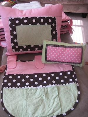sew a straight line: Baby Girl Crib Bedding