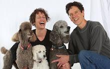 Wendy & Joe Wahman with their beloved poodles