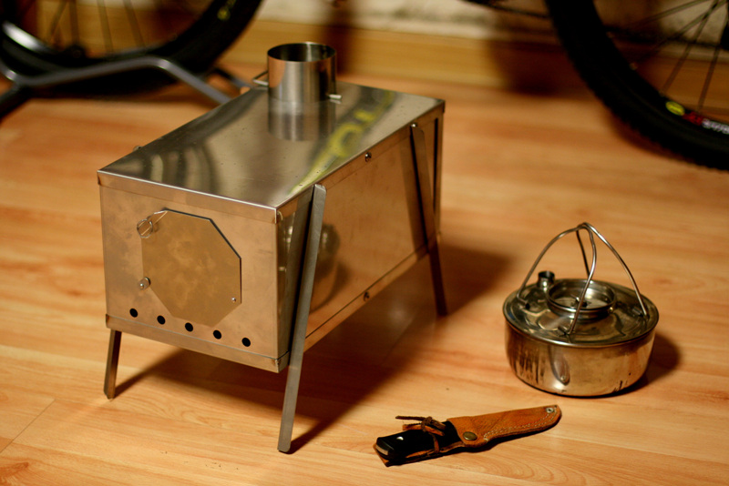 This is my first wood stove. The weight is over 3kg. So heavy! 0.8mm stainless  steel sheet... Too tight input door. - Manta Bushcraft Blog: Diy Wood Stoves
