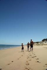 helemaal niemand op strand