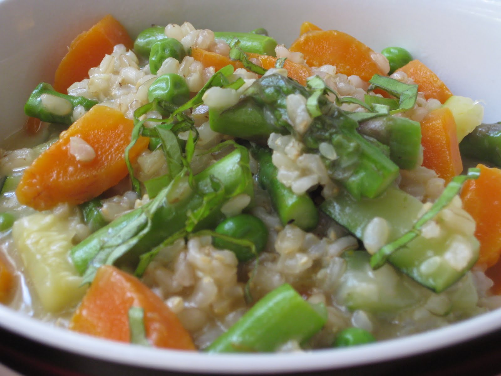 Chow Bella: Brown Rice Risotto alla Primavera