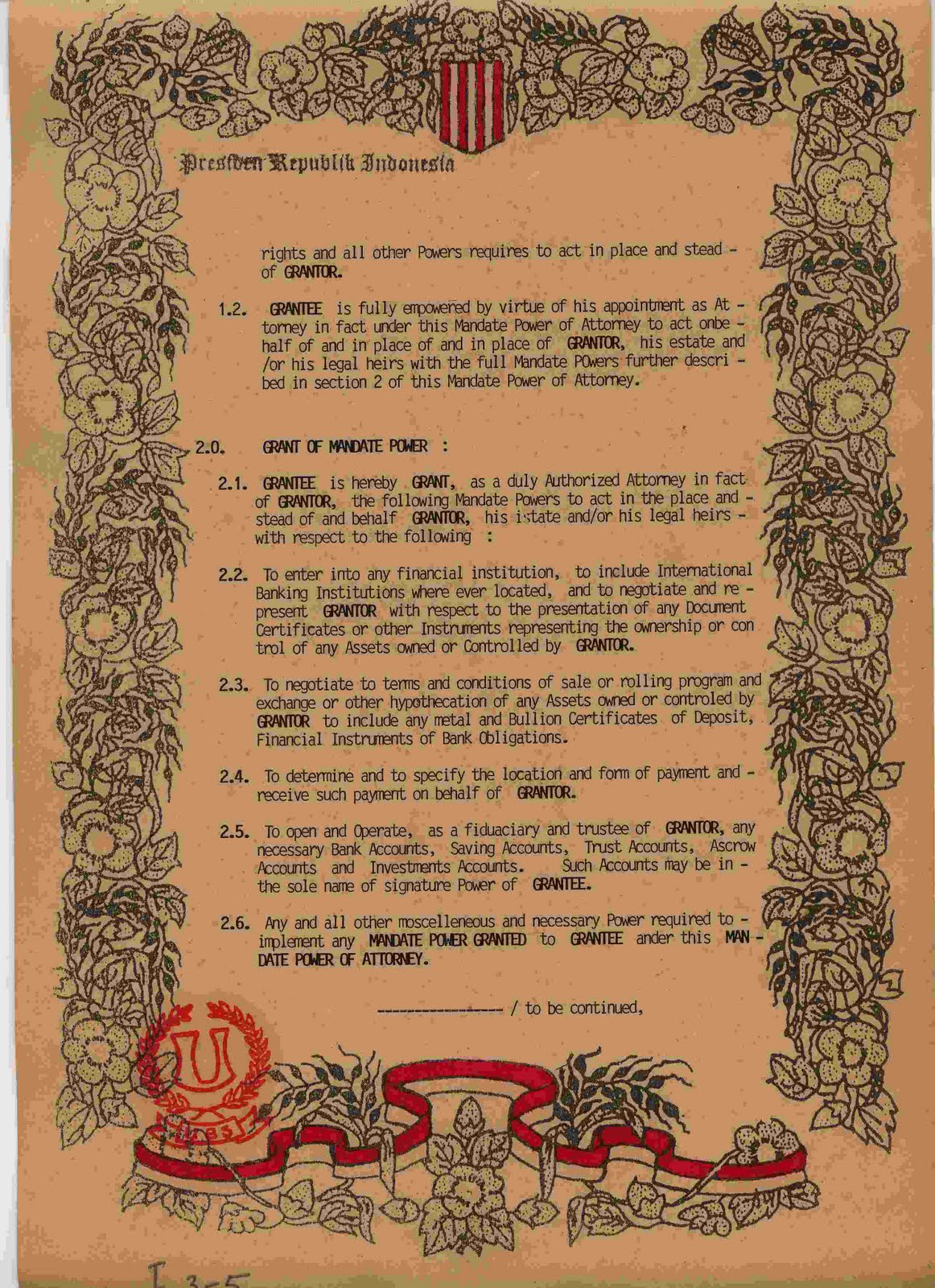 Mandate Of Authority List Of Certificate Agreements E Marketing