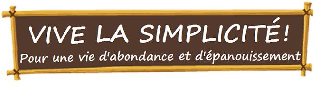 Vive la simplicité!
