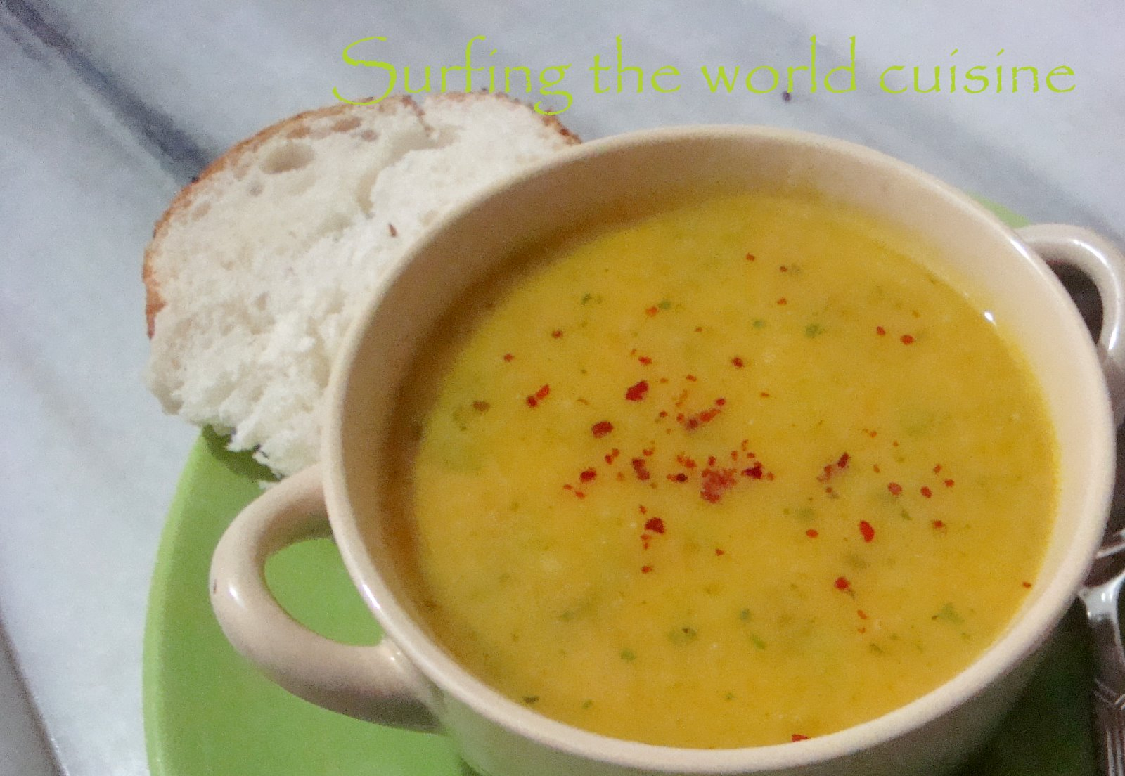 Surfing the world cuisine: Spicy carrot and cauliflower soup
