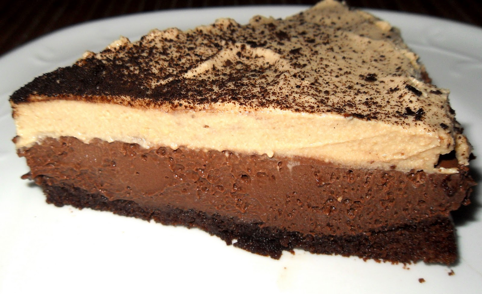 Triple Layer Coffee Chocolate Mousse Cake | Cooking Escapades