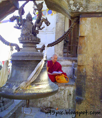 Buddhist monk , Buddhism,monk in stupa,monk in gomba monk in gumba,monk in temple,nepali monk ,international monks in nepal,praying monk