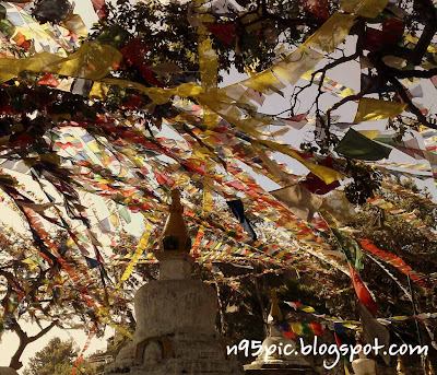 prayer flags, swayambhunath,largest number of prayers flags,red flag ,blue flag ,green flag, seven color flag
