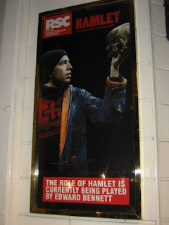 Ed Bennett as Hamlet poster at Novello Theatre Dec 15 2008