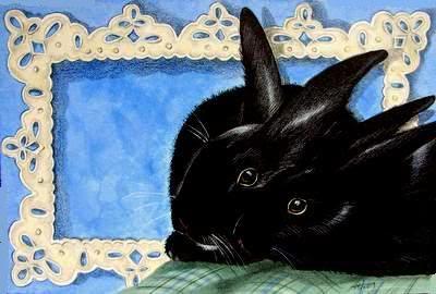 Black Bunny Art