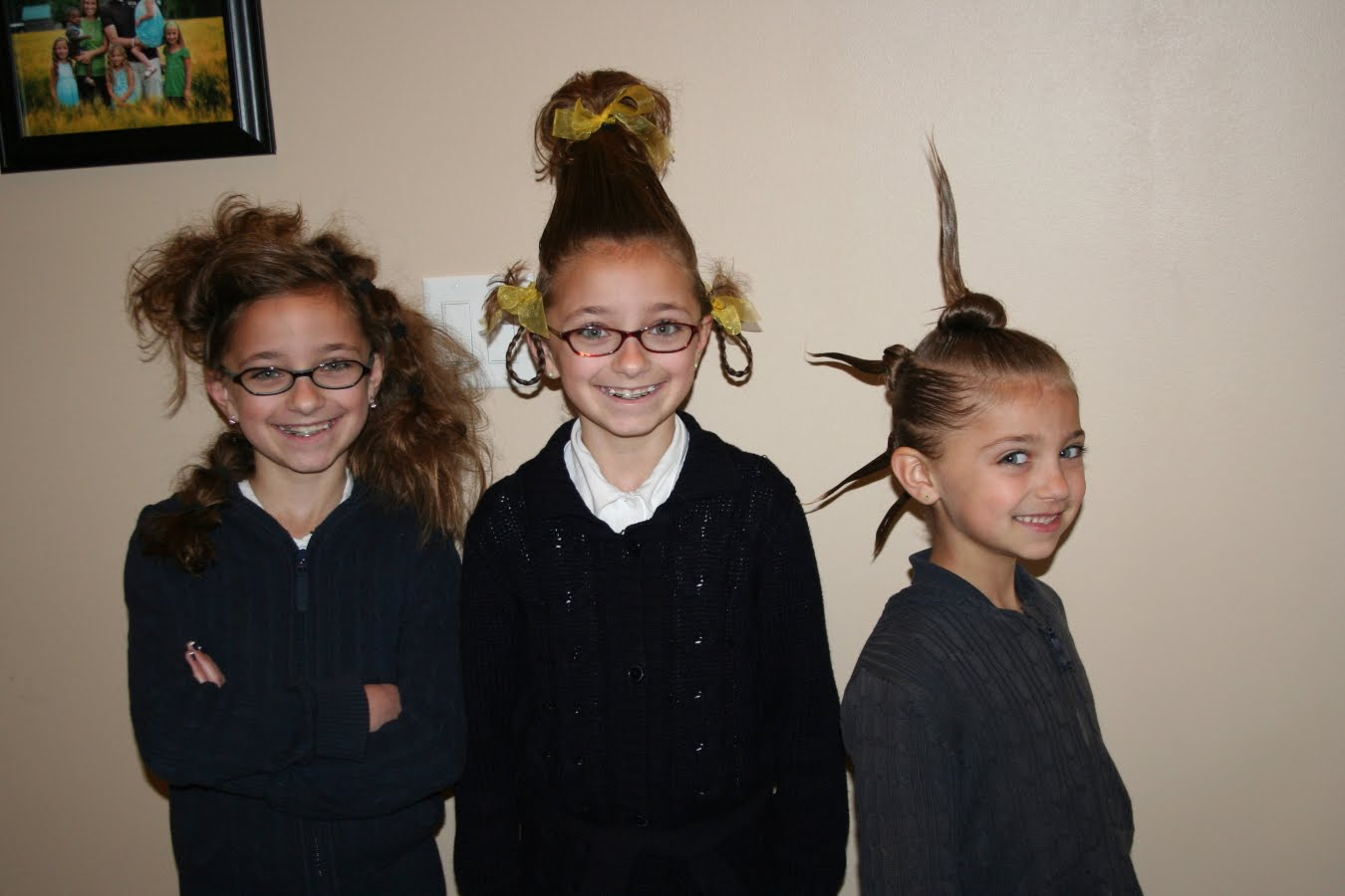 Cute easy hairstyles that kids can do - This Past Monday Was Crazy Hair Day At The Kids Charter School You Can See A Picture Of The Hairstyles We Came Up With Above I Have Some Pretty Good Ones