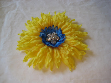 Yellow Flower Clip # 2
