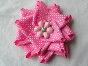 Pink Ribbon Flower Cip