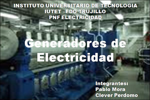 Generadores de electricidad tipos de plantas generadoras - Generadores de electricidad ...