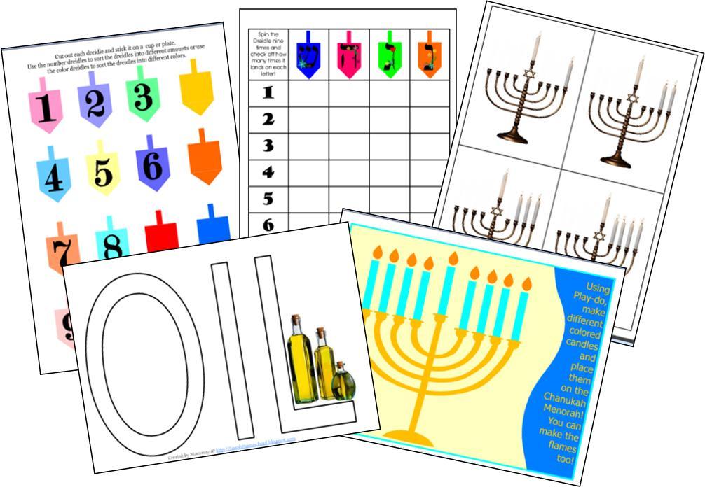 jewish preschool lesson plans a homeschool some more chanukah printables 473