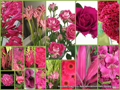 For Victoria here are some wedding flowers in hot pink available in August