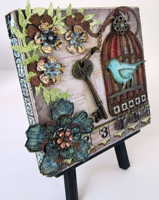 Friends in art tim projects for Mixed media canvas art ideas