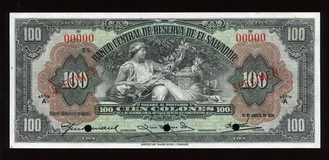 Salvador 100 Colon World Banknotes Amp Coins Pictures Old