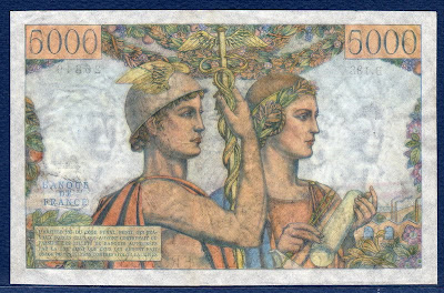 banknote 5000 French Francs