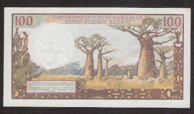 100 Malagasy Francs bill