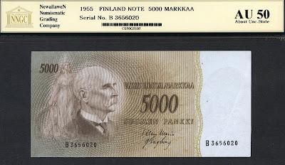 5000 Finnish markka banknote