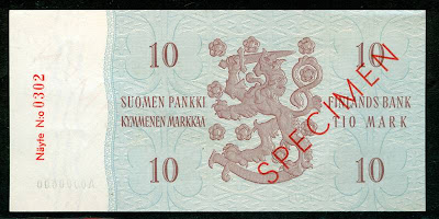 World Paper Money FINLAND 10 MARK