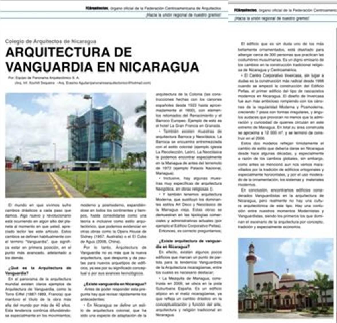 colegio de arquitectos de nicaragua coan arquitectura de On articulos arquitectura