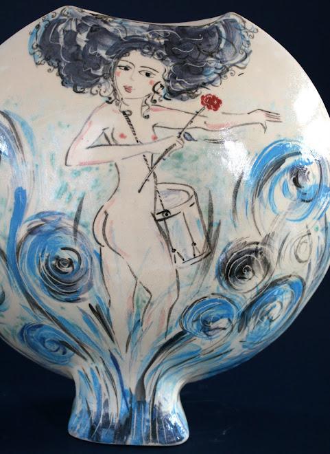 Femme au tambour à la rose...
