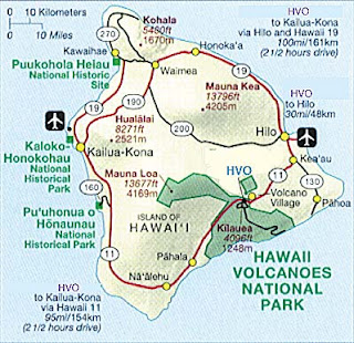 map of hawaii volcanoes national park bnhspinecom