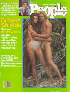 Christopher Atkins standing in a loincloth on the cover of People magazine Aug. 11, 1980