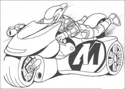 Motorcycle Coloring Pages on The Man Is Riding His Motorcycle Coloring Page Jpg
