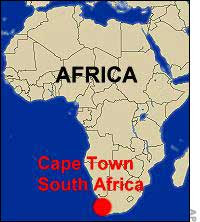 Cape Town Map Africa